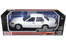 BoxDamage FORD CROWN VICTORIA UNDERCOVER POLICE CAR WHITE 1/18 BY MOTORMAX 73527