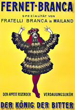 Art Ad Fernet Branca Bitter Drink Drink Mailand Art Deco  Poster Print
