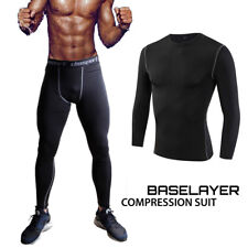 Mens GYM Sports Base Layer Compression Shorts Running Long Pants Tight Leggings