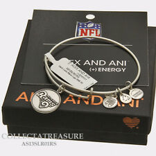 Authentic Alex and Ani Saint Louis Rams Logo Rafaelian Silver Charm Bangle
