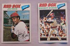 1977 Topps Boston Red Sox Baseball Card Pick one