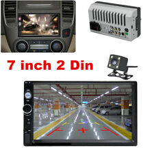 7Inch 2 DIN Car Stereo Radio HD MP5 FM Player Touch Screen +Free Rear Camera