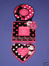 Minnie Mouse Polka Dot Frame Set of Three Frames Disney Parks Picture Frame NEW