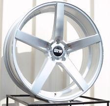 STR 607 20X9.0 5X120 et30 SILVER W/MACHINE FACE Wheel  (1 Rim Only)