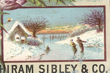 ROCHESTER NY & CHICAGO, HIRAM SIBLEY & CO TRADE CARD, SEEDSMEN, IMPLEMENTS Z959