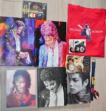 Michael Jackson Memorabilia Lot 4 x Book,2 x Pictures,DVD, Belt, Bag, Buttons.