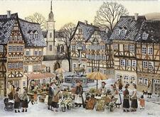 Alte Kunstpostkarte - Renate Persuhn - Wochenmarkt