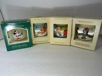 Lot of 4 VTG Hallmark Keepsake Christmas Ornaments | Mickey Mouse & Miss Piggy