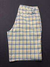 Puma Golf Shorts (34 x 11, White, Green, Blue, Plaids & Checks)(#101918C)