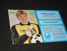 Wolfgang de Beer MSV Duisburg, Borussia Dortmond :Uhlsport advertising card
