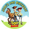TOY STORY WOODY & JESS GLOSS BIRTHDAY SWEET CONE LABELS PARTY BAG BOX STICKERS