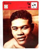 "Joe Louis World Heavyweight Boxing Champion Sportscaster 1977 6.25"" Card 06-12"