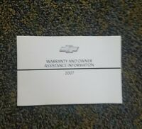 2007 Chevrolet Owner Assistance and Limited Warrant Booklet
