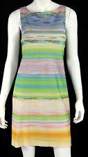 MISSONI Multi-Color Striped Knit Sleeveless Shift Dress 40