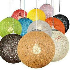 Vintage Rattan Wicker Pendant Ceiling Light Shade Fitting Modern More Colours