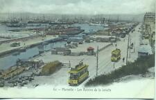 Tram Les Bassins de la Joliette, Marseille France unused P. Ruat 1900s Postcard
