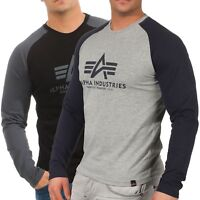 Alpha Industries Herren Longsleeve Basic 176531 langarm Shirt Pulli Henley Mann