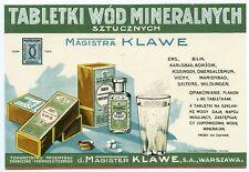 d. MAGISTER KLAWE S. A. WARSZAWA- TABLETKI WÓD MINERALNYCH ca. 1930