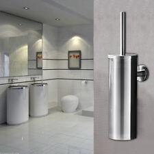 Edelstahl Bürstenhalter WC Garnitur Klobürste Toilettenbürste Wandmontage DHL