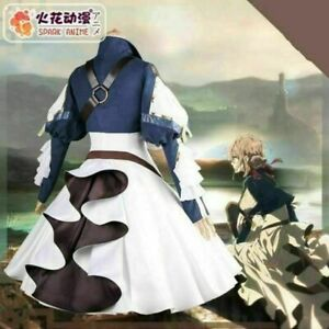 Anime Violet Evergarden Cosplay Costume Uniform Suits Women Dress