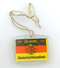 #e3446 Abzeichen / Wackelbild 20 Jahre DDR Deutsche Volkpolizei Wasserpolizei
