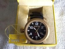 Men's Swiss Made INVICTA Sea Hunter StainlessSteel Bronze Tone Quartz Watch {F1}
