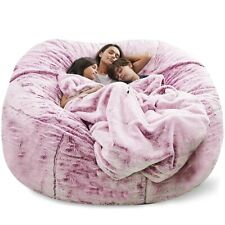 7ft Giant Soft Bean Bag Sofa Cover Chair Comfortable Living Room Bean Bag NEW