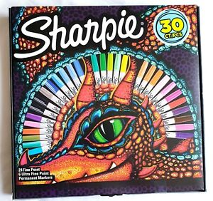 Sharpie Dragon Lizard  30 Pen Set - 24 Fine & 6 Ultra Fine Special Edition