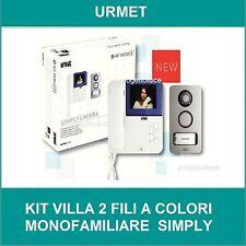 Kit videocitofono a colori SYMPLY pulsantiera MIKRA URMET 956/81 2FILI