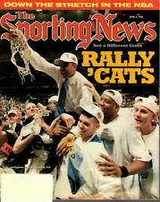 The Sporting News Basketball magazine, 4/6/98, Tubby Smith, Kentucky Wildcats~Fr