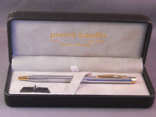Pierre Cardin chrome and gold ball pen--working