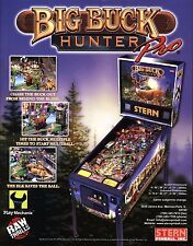 Stern BIG BUCK HUNTER PRO Original NOS 2010 Pinball Machine Promo Sales Flyer