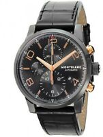 MONTBLANC 105805 Automatic Mens Watch TIME WALKER Black Dial Fast Ship Japan EMS
