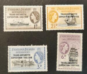 Falkland Island Dependencies 1958 Transatlantic Expedition set Mint Hinged Ob12