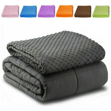"""Weighted Blanket With Duvet Cover 60"""" x80"""" 15lb Reduce Stress Promote Deep Sleep"""