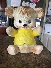 Vintage Edward Mobley Co. Squeak Toy 1962 Teddy Bear Sleepy Eye