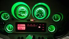 GREEN BRIGHT LED REPLACEMENT LIGHT BULBS FOR HARLEY DAVIDSON STREET GLIDE GAUGES
