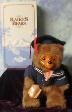Raikes Bear CHRISTOPHER Navy Sailor Plush Teddy Bear - MIB