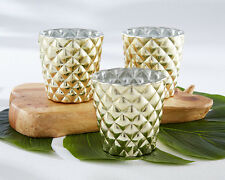 48 Pineapple Gold Votive Candle Holders Tropical Party Decorations Favors Q36402