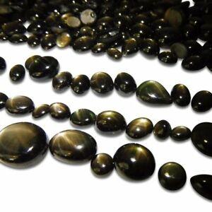 Natural Star Sapphire Black Cabochon Loose Gemstone Lot