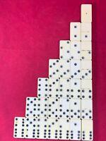 Vintage Dominoes Ivory Stripe Double 6 Full Set no box
