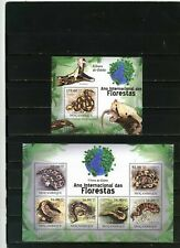MOZAMBIQUE 2011 Sc#2190,2022 REPTILES/SNAKES VIPERS SHEET OF 6 STAMPS & S/S MNH