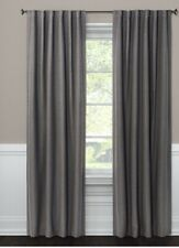 """Threshold Black Out Linen Aruba Curtain Panel 54"""" x 84"""" Charcoal New Without Tag"""