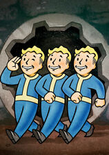 FALLOUT BOYS ART PRINT ON STRETCHED CANVAS PRINTS POSTER DECOR HOME GAME