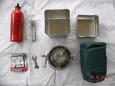 New USMC Peak Multi-Fuel Survival Stove W/Case,Cooking Pot, Fuel Bottle