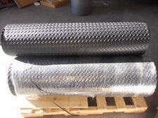 """1/8"""" Diamond Plate Poly Rubber Mat Flooring 4' long x 4' wide, 3.175 mm"""