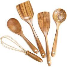 Utensils Set,Wooden Spoons for Cooking Nonstick Wood Kitchen Utensil Cook