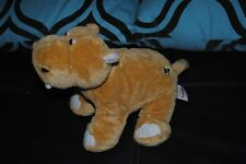 GANZ Webkinz Tan Brown Hippo Hippopotamus Plush Stuffed Animal CUTE
