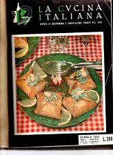 la cucina italiana raccolta di 11 fascicoli da gennaio 1952 a novembre 1952