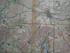 Landkarte Berlin Blatt 12 Fürstenwalde Landesaufnahme vierfarbig 1914 Saarow